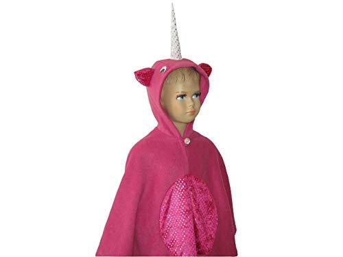 fasching karneval halloween kostüm cape für kleinkinder einhorn pink