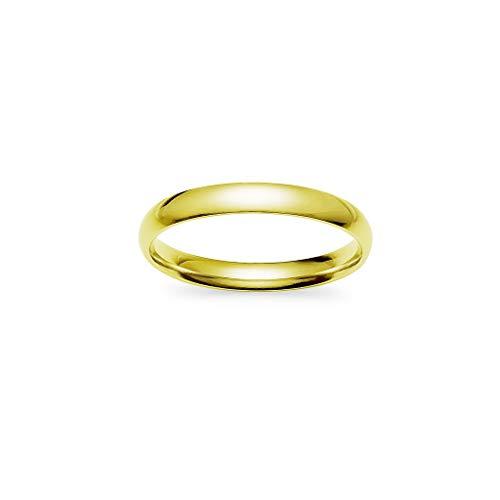 Gotta have it – fedi nuziali impilabili 3 mm in acciaio inox, colore giallo, rosa e nero finitura blu e acciaio inossidabile, 19, colore: yellow gold tone, cod. ghi-1112-yg9