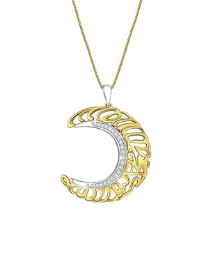 Voylla Real Diamond 925 Sterling Silver EID Pendant with Silver Chain