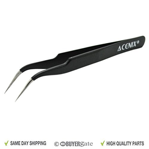 ACENIX® Professionelle Reparatur-Pinzette, antimagnetischer Edelstahl, mit gebogener Spitze Motorola Blackberry Curve
