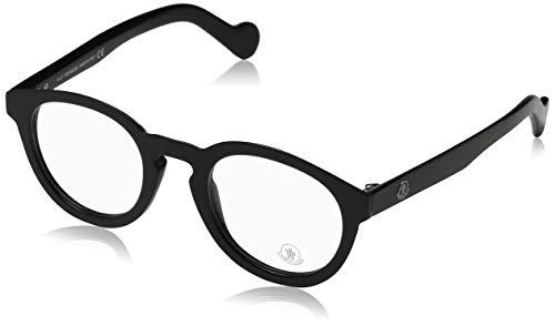 Moncler Unisex-Erwachsene Brillengestelle ML5006 001 48, Schwarz (Nero LUCIDO)