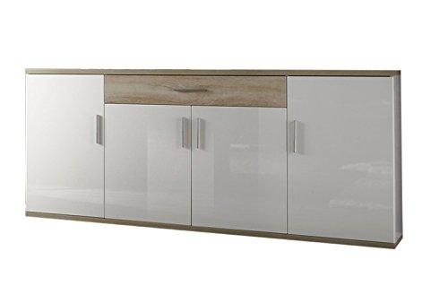 trendteam smart living Wohnzimmer Sideboard Schrank Wohnzimmerschrank Arena, 180 x 87 x 41 cm in Korpus Weiß