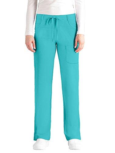 NrG by Barco Damen Junior Fit 4-Pocket Tie Front Straight Leg Scrub Pant XXX-Large aquamarin - Barco Scrubs