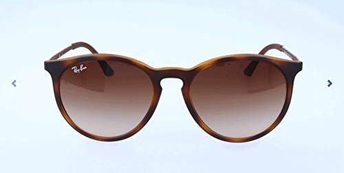 RAYBAN JUNIOR Herren Sonnenbrille Erika, Light Havana Rubber/Gradientbrown, 53