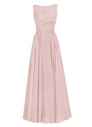 Dresstells Damen Lange Homecoming Kleider Abendkleider Brautjungfernkleider Rot