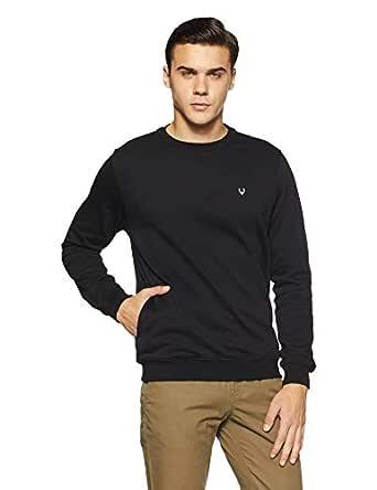Allen Solly Men's Sweatshirt (ASSTORGPE03132M_Black)