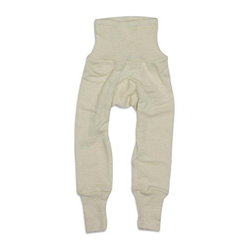 Cosilana Baby Hose lang mit Bund, Größe 50/56, Farbe Natur, 70 % Merinoschurwolle, 30 % Seide