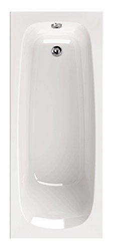 AquaSu I Acryl - Badewanne meLeo I 180 x 80 cm I Weiß I Wanne I Badewanne I Bad I Badezimmer