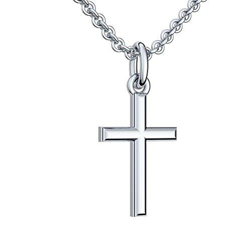 Silberkreuz mit Kette Taufkette Kreuz Kreuz Kette Anhänger Silber 925 Taufgeschenke Taufschmuck für Junge Mädchen Damen Frau Herren Religiöser Schmuck Christliche Ketten FF05-3 SS92545 - 4
