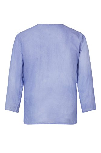 ThaiUK - Chemise casual - Col Tunisien - Homme bleu clair