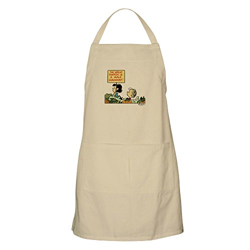 CafePress–Peanuts Snoopy Lucy Proteste The Great Kürbis Schürze–Küche Schürze mit Taschen, Grillen Schürze, Backen Schürze khaki