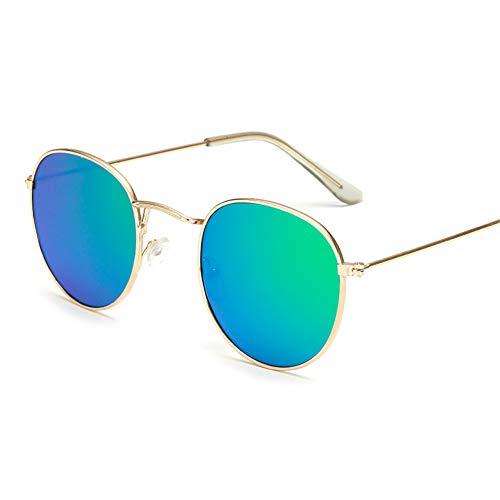 TYJYB Neue Farbenfrohe Retro-Sonnenbrille, Runder Hipster-Spiegel Und Vielseitige Sonnenbrille (A02)