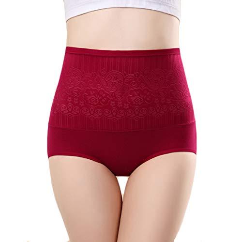 Aiweijia Frauen drucken Postpartale Bauch Kontrolle Körper schützende 5er Pack hohe Taille schlank sexy Slip - 2