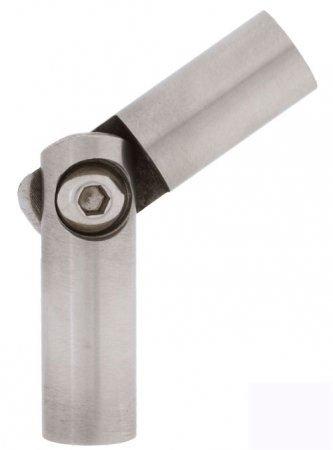 Edelstahl Stabverbinder mit Gelenk für Rundstab 10 mm - V2A - schmale Ausführung (S013746-1)