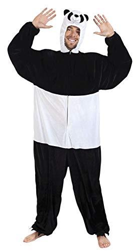 Boland 88057 Erwachsenenkostüm Panda Plüsch, Unisex– Erwachsene, Schwarz/Weiß, -