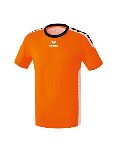 Erima bambini sevilla maglietta, bambini, 6130707, arancione/bianco, 128