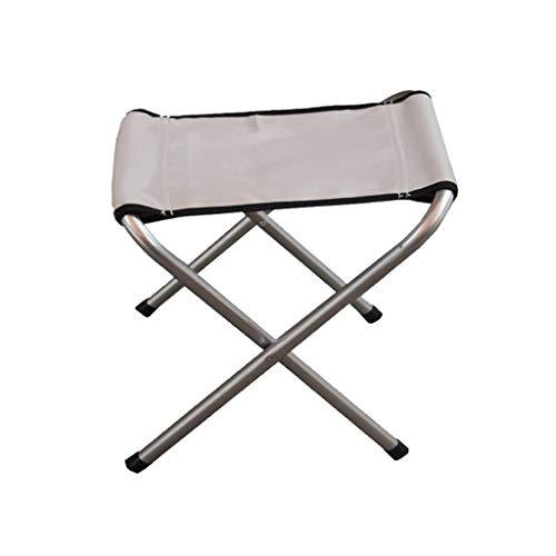 Decorative stool CSQ-Portable Picknick Hocker, kleine Klapphocker Verdickung und dauerhafte Outdoor Hocker Student Hocker Old Man Hocker Gartenhocker Angeln Faltbar (Color : Gray)