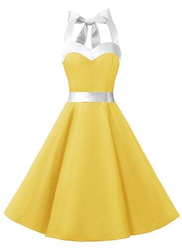 dresstellsr-halter-50s-rockabilly-polka-dots-audrey-dress-retro-cocktail-dress-yellow-white-xs
