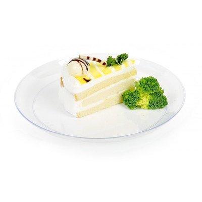restaurantware rotondo elegante piatto in plastica, 100pezzi Box 18 cm (Piatti Yoshi Plastica)