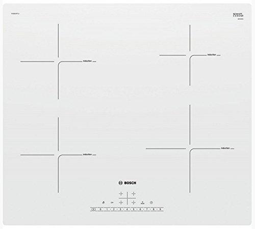 Bosch Serie 4 Pue612Ff1J Kochfeld Weiß Eingebaut Zonen-Induktionskochfeld - Kochfelder (Weiß, Eingebaut, Zonen-Induktionskochfeld, Glaskeramik, 1400 W, 14,5 Cm)