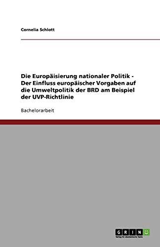 Die Europäisierung nationaler Politik - Der Einfluss europäischer Vorgaben auf die Umweltpolitik der BRD am Beispiel der UVP-Richtlinie