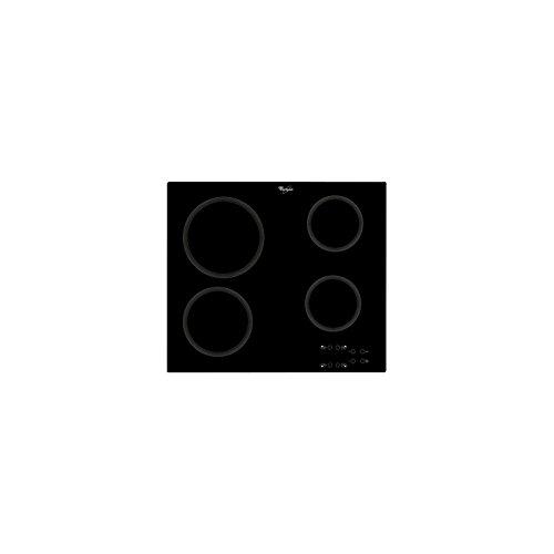 Whirlpool AKT 801/NE Plaque de Cuisson vitrocéramique, Noir