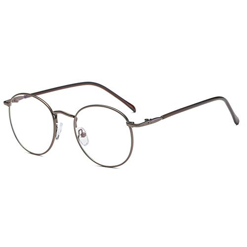 GBST New Round Art Gold Fine Wire Optical Metal Spectacle Frame Women's Myopia Frame Men's Plain Light Cosmetic Glasses,A5