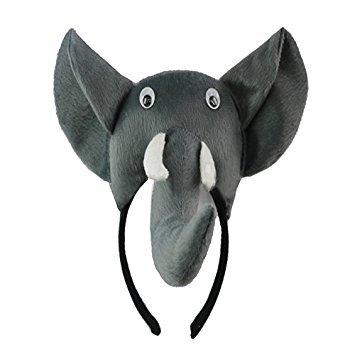 Elefant Kopfband - TOOGOO(R)3D Elefant Kopfband Tier Bauernhof Erwachsene Kinder Kostuem Maske - Maskenball Kostüm Kinder