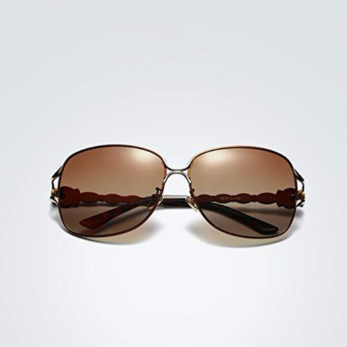 xinrongqu Gafas De Sol - Gafas De Sol Polarizadas Para Damas Jade Nose Gafas De Sol Clásicas Para Damas Espejo Retrovisor Marrón # 4