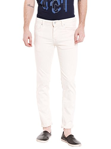 KILLER Men's Skinny Fit Jeans (E-9527 BRISTOL SKFT IVR_White_30W x 34L)  available at amazon for Rs.1859