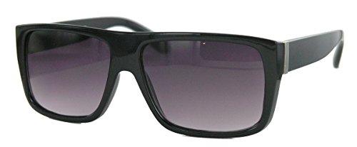 (Old School Sonnenbrille Flat Top Retro Style schwarz)