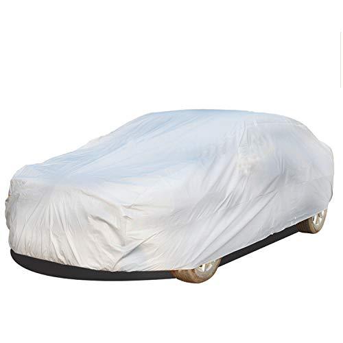 KINJOHI Car Cover Autoabdeckung Autoplane Auto Abdeckplane Sedan Schutzhülle wasserdichte Vollgarage Autoschutzdecke für Saloon Size XL, 5,4 * 1,75 * 1,20 M