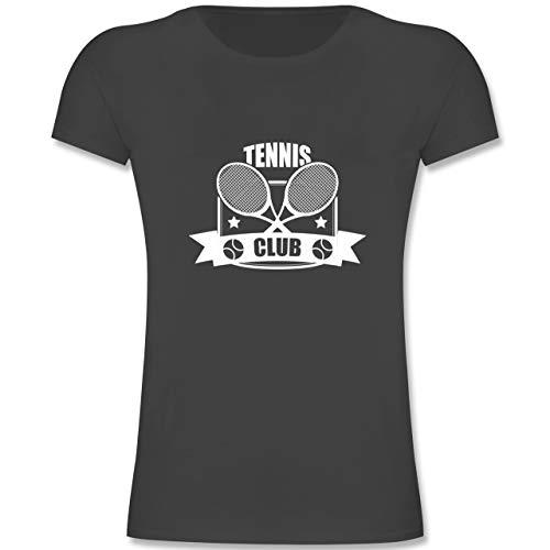 Sport Kind - Tennis Club - 164 (14-15 Jahre) - Anthrazit - F131K - Mädchen Kinder T-Shirt