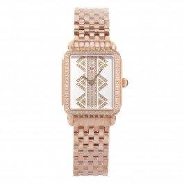 MICHELE Deco II Mww06i000021ton or rose en acier inoxydable à quartz montre pour femme