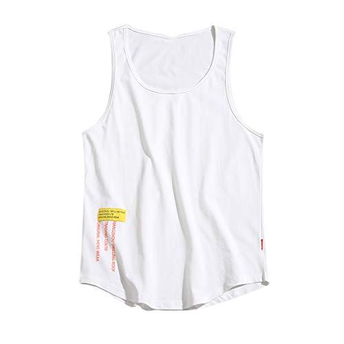 DOFENG Herren Casual T Shirt, Herren Sommer T Shirt Ärmellos Shirts Tops Männer Volltonfarbe Drucken Slim Fit Tanks Weste Atmungsaktiv Hemden Basic Lose U-Ausschnitt -