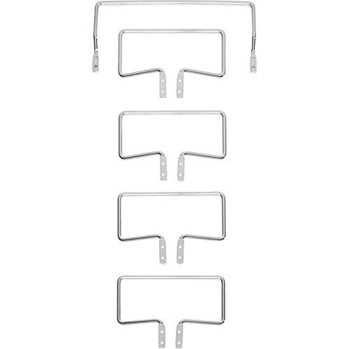 Image of Tempur Matratzenhalter Satz C 3000 für freistehende Systemrahmen, Metall, Chrom, One Size
