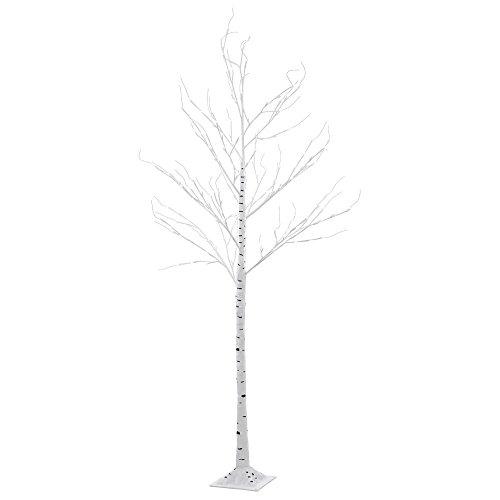 Birke (Blüten Baum 154 x LED Birke Steh Außen Leuchte Garten Ambiente Leuchtbaum Deko IP44 EGLO 75145)