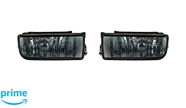 2 x Fog Light Smoke Black Dark Including 2 x H1 Lamp Replacement for E36 Coupe Cabrio Saloon Touring Compact