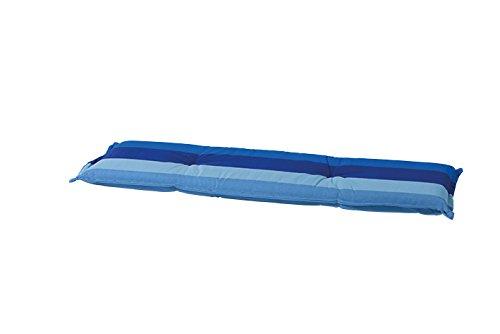 8 cm Luxus 2-Sitzer Bankauflage C 286 ca. 120x48x8 cm, blau gestreift