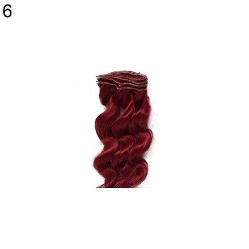 t so verschiedenen 15cm schöne Mädchen Puppe Spielzeug diy Perücke lockiges, welliges Haar für Barbie BJD Zubehör-10# ()