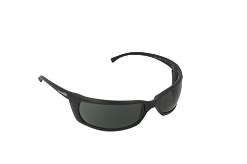 New arnette an 4007 01/ matte black frame with grey green lens men women wrap around sunglasses