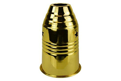 BAYLI Windschutz für Shisha / Wasserpfeife - Farbe Gold 15cm hoch - Ø 8,5cm