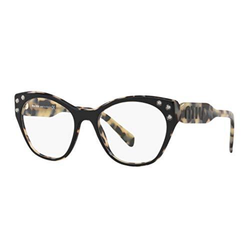 Miu Miu Damen Brillengestell Schwarz Schwarz 52