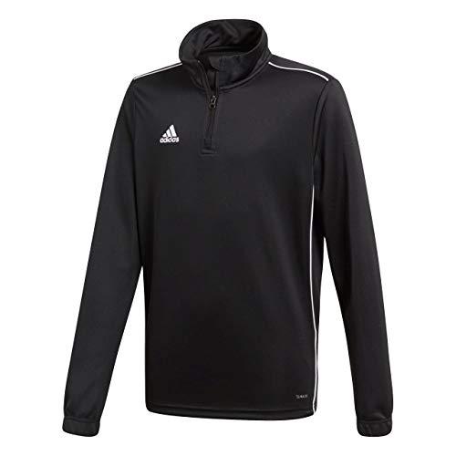Adidas Core18 TR Y, Felpa Unisex Bambini, Black/White, 15/16