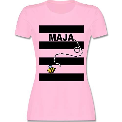 Karneval & Fasching - Bienen Kostüm Maja - M - Rosa - L191 - Damen Tshirt und Frauen T-Shirt Da Tex Video