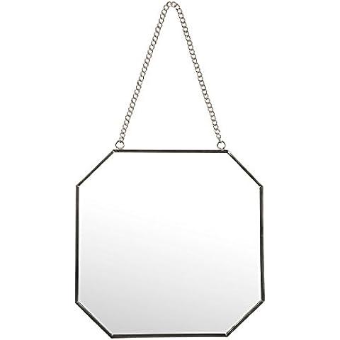 Sema 98961espejo de pared hexagonal pequeño modelo Metal Plata 0,05x 19x 18,5cm