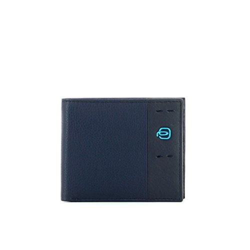 Piquadro Portafoglio Collezione Pulse Portamonete, Pelle, Blu Notte, 10 cm