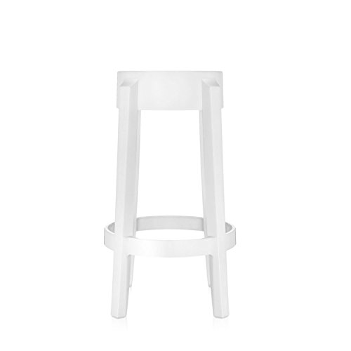 Produktabbildung von Kartell 4898E5 Hocker Charles Ghost 65 cm hoch weiß glänzend