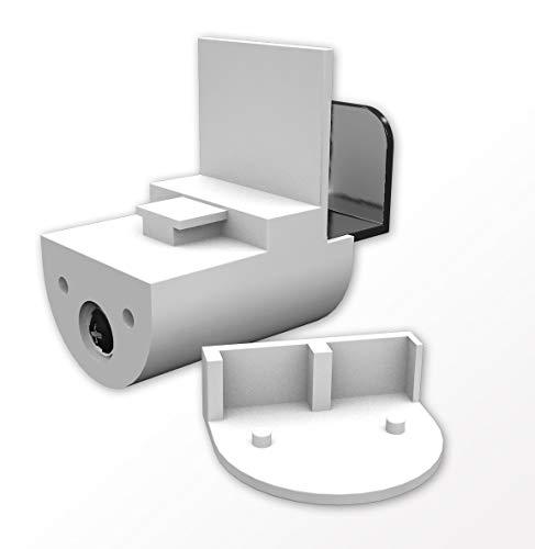 Home-Vision Premium Plissee Faltrollo ohne Bohren mit Klemmträger / -fix Blickdicht Sonnenschutz Jalousie für Fenster & Tür