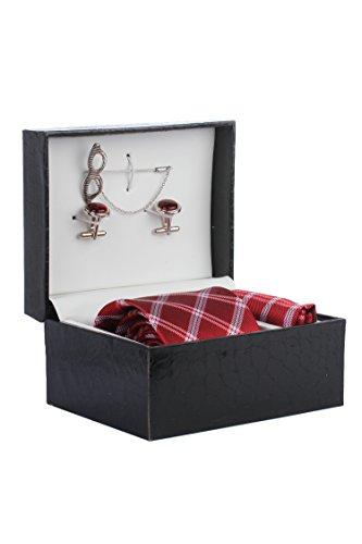 Ellis Men Tie, Cufflink ,Lapel Pin And Pocket Square Gift Set